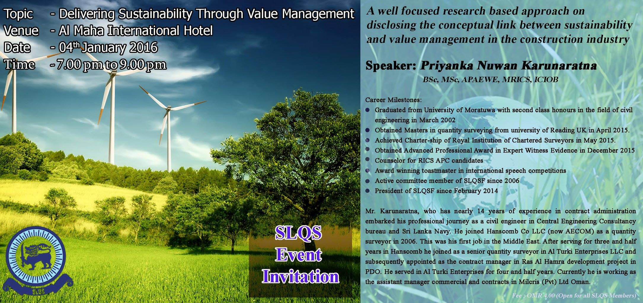 Sustainability Through Value Mgt